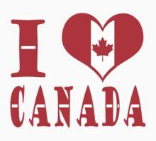 I Heart Canada by born2draw