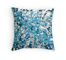 Blue Tones 2 Abstract Pattern  Throw Pillow
