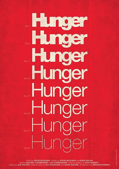 Minimalist Movie Poster: 'Hunger' film poster by Viktor Hertz