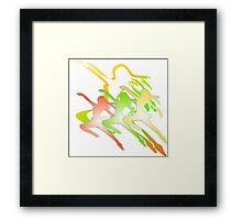 dancing girls illustration  Framed Print