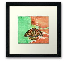 Si mariposa Framed Print