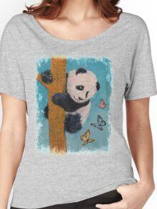 Panda Butterflies Women's Relaxed Fit T-Shirt