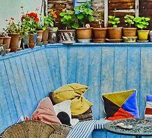 A Colourful Cosy Corner by lynn carter