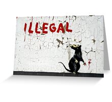 Fitzrovia Rat by Banksy Greeting Card