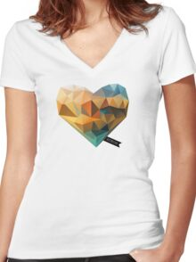 Vector Love 03 Women's Fitted V-Neck T-Shirt