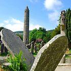 Two Falling Headstone - Glendalough,Ireland by Ferdinand Lucino