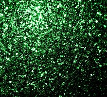 Beautiful Glamour Green glitter sparkles by PLdesign