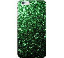 Beautiful Glamour Green glitter sparkles iPhone Case/Skin