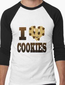 I Love Cookies Men's Baseball ¾ T-Shirt