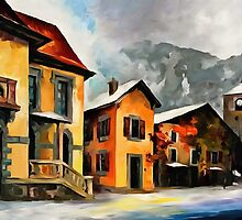 Switzerland - Town in The Alps by DigitalLeonid