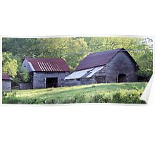 Forgotton Mountain Barns Poster