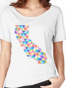 California Love - Colorful Triangles Women's Relaxed Fit T-Shirt