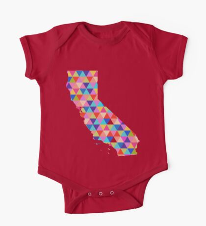 California Love - Colorful Triangles One Piece - Short Sleeve