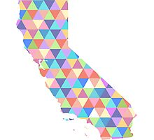 California Love - Colorful Triangles Photographic Print