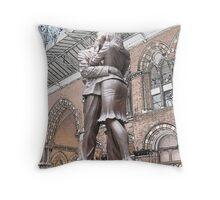 St Pancras : Meeting Place Throw Pillow