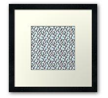 Penguin crowds Framed Print