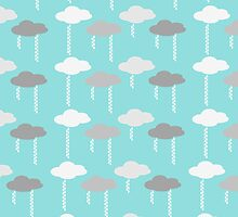 Rain Clouds Pattern - Blue by CorrieJacobs