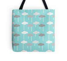 Rain Clouds Pattern - Blue Tote Bag