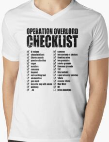 Operation Overlord Checklist Mens V-Neck T-Shirt