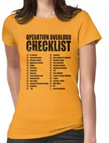 Operation Overlord Checklist Womens Fitted T-Shirt