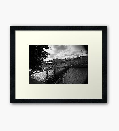 A Bridge, A River Framed Print