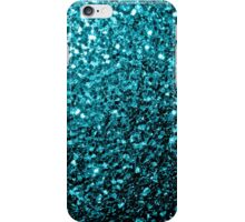 Beautiful Aqua blue glitter sparkles iPhone Case/Skin