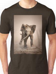Elephant Calf mock charging Unisex T-Shirt