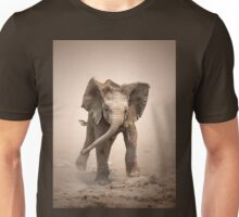 Elephant Calf mock charging Unisex T-Shirt