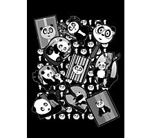 Panda Mix - Black Photographic Print