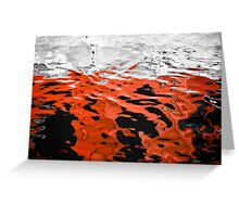 Red and Black Water Greeting Card