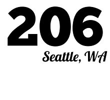 Area Code 206 Seattle WA by GiftIdea