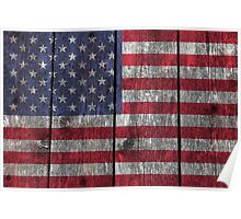"""Old Glory"" on wood Poster"