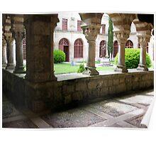 Monastery Courtyard, Castilla-La Mancha, Spain Poster