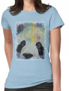 Panda Rainbow Womens Fitted T-Shirt