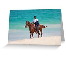 Horse rider on a Tropical Beach in Florida Greeting Card