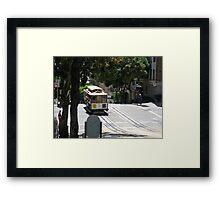 Trolley Car Framed Print