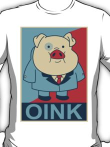 """Waddles Oink- """"Hope"""" Poster Parody T-Shirt"""