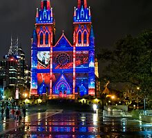 VIVID - St Marys Cathedral by Jason Ruth