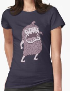 Sasquatch knows his manners Womens Fitted T-Shirt
