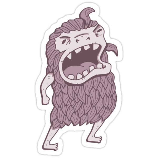 Sasquatch knows his manners by Damien Mason