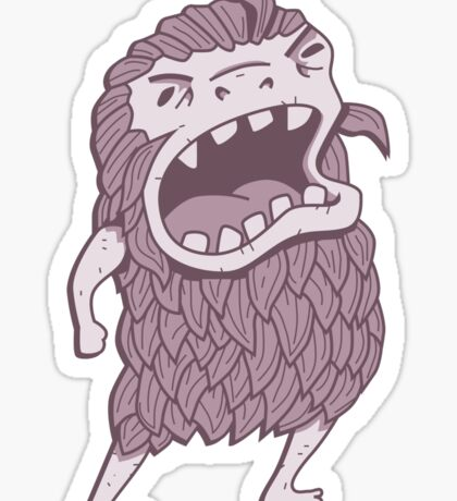 Sasquatch knows his manners Sticker