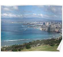 Honolulu Skyline Poster