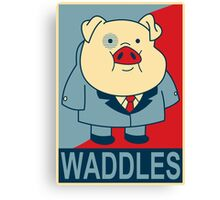 """Waddles- """"Hope"""" Poster Parody Canvas Print"""