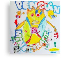 Penguin Minecraft Canvas Print