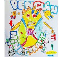 Penguin Minecraft Photographic Print