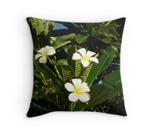 Yellow Plumeria #3 Throw Pillow