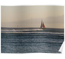 Sailboat at Sunset Poster