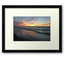 Pinery Sunset, Ontario Framed Print
