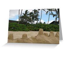 Sandcastles, a la Hawaii Greeting Card