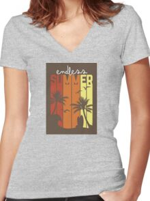 Endless Summer Women's Fitted V-Neck T-Shirt